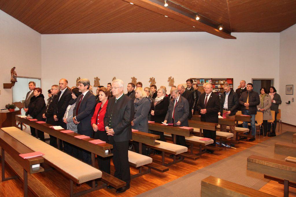 Gottesdienst in der Kapelle der Kolping-Familienferienstätte Lambach